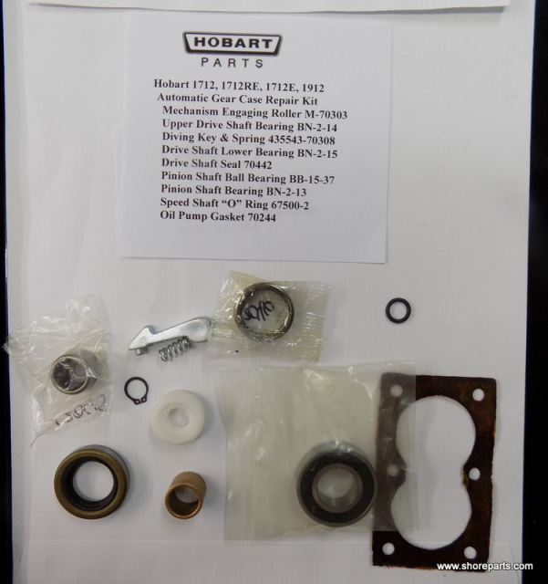 Hobart Automatic Gear Case 1712-1712RE-1712E-1912 Repair Kit